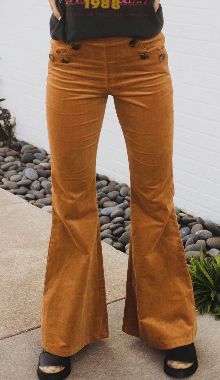 Wide Leg Corduroy Pant - Camel