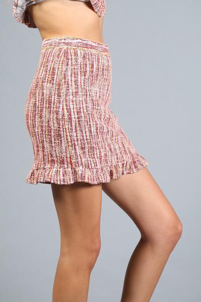 Skirt - Tweed Camel Mix