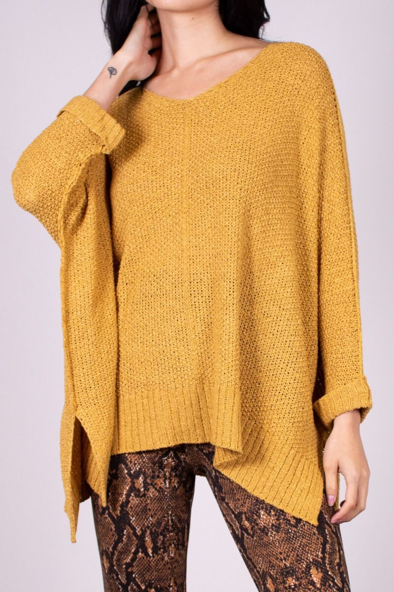 Sweater 3/4 Sleeve Pullover