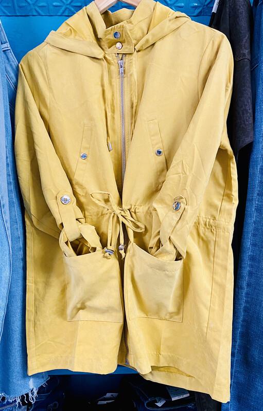 Jacket - Hooded w/ Drawstring Waist Mustard