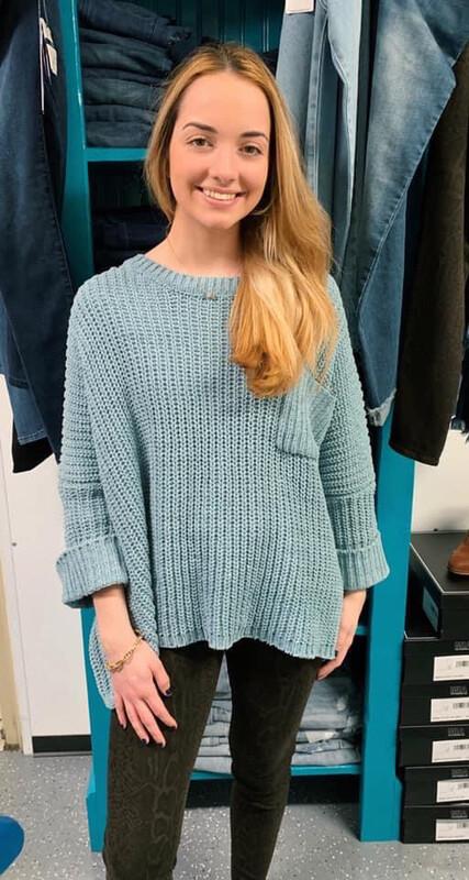 Sweater Chenille Pullover One Size Seafoam