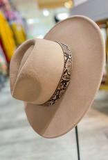 Snake Beige Hat