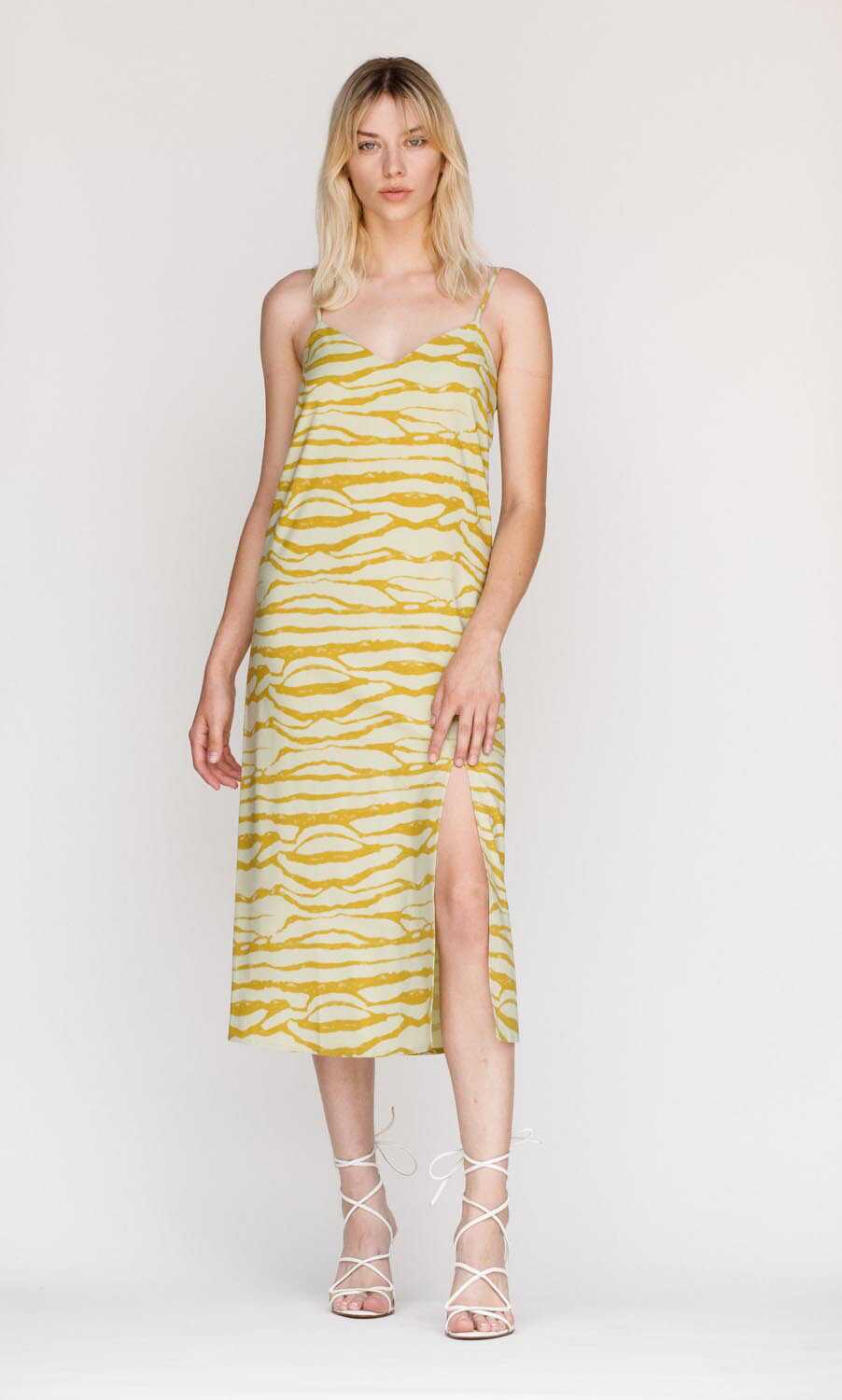 Dress - Pistachio Slip w/ Slit
