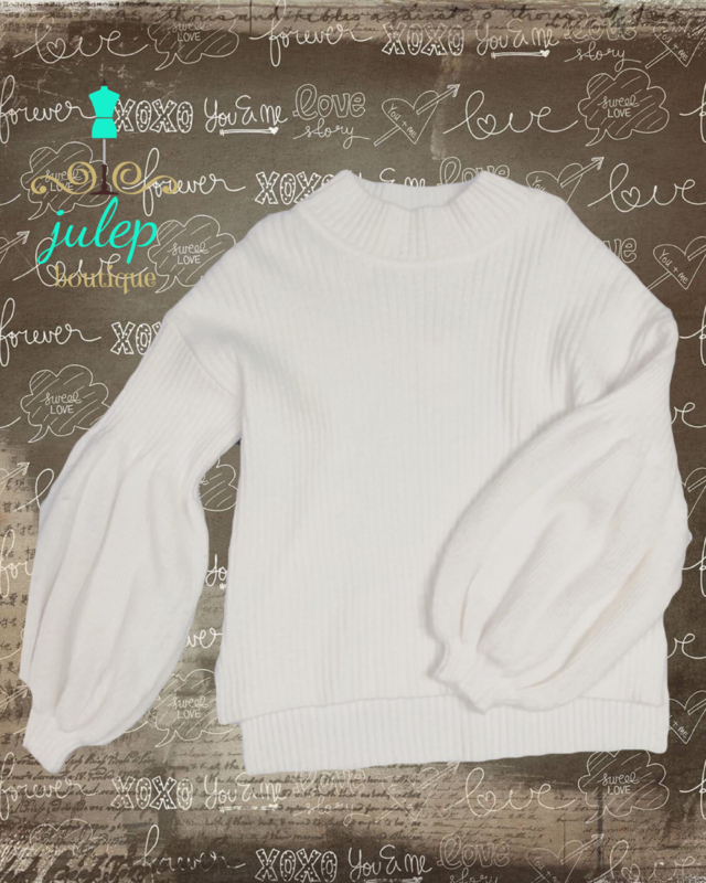 Sweater Cream Puff Sleeve