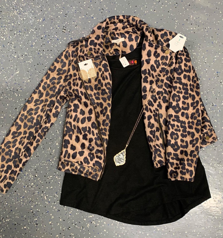 Moto Jacket Leopard