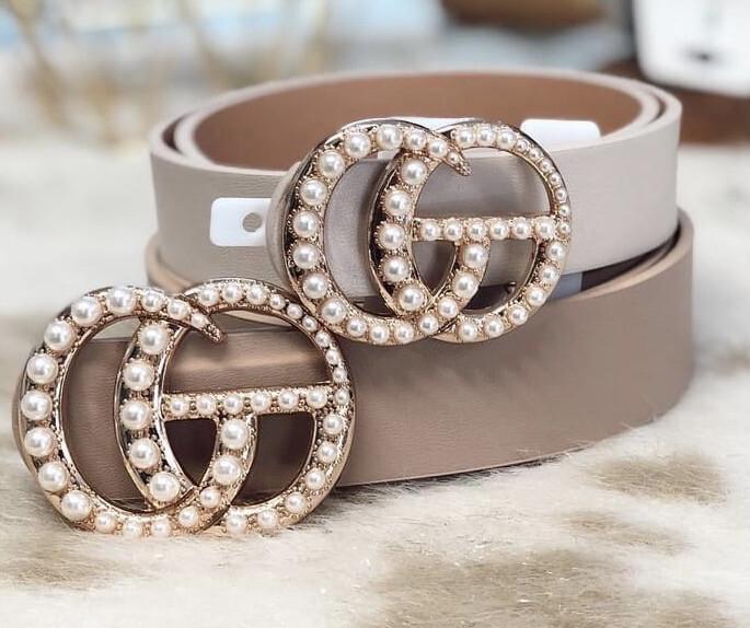 Belt Pearl Ring White