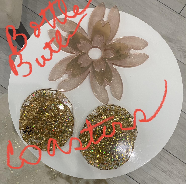 Gold Flake Coasters (4)