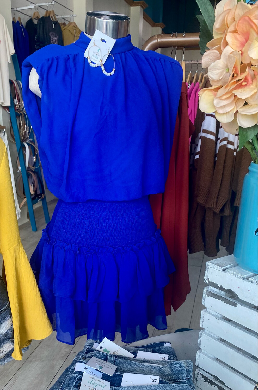 Royal Mini Dress