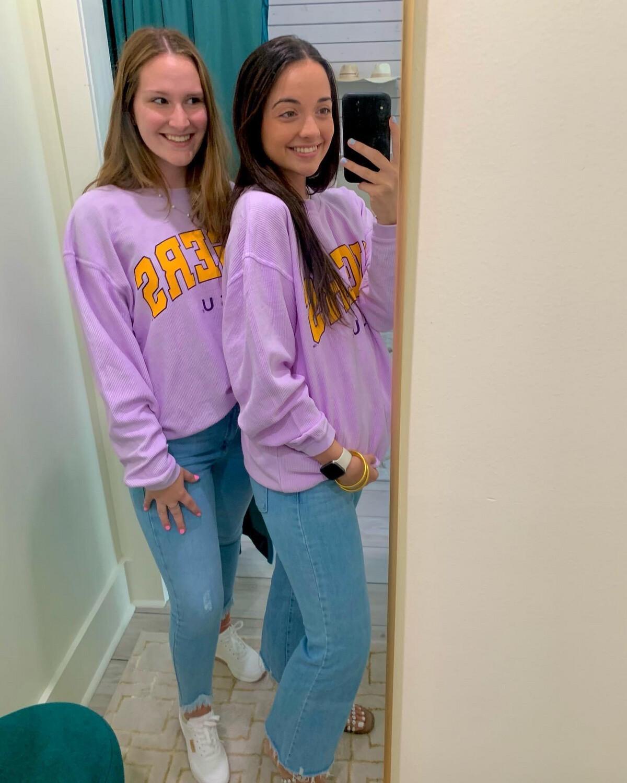 LSU Crew SS Purple