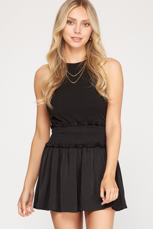 BLK Satin Skirt