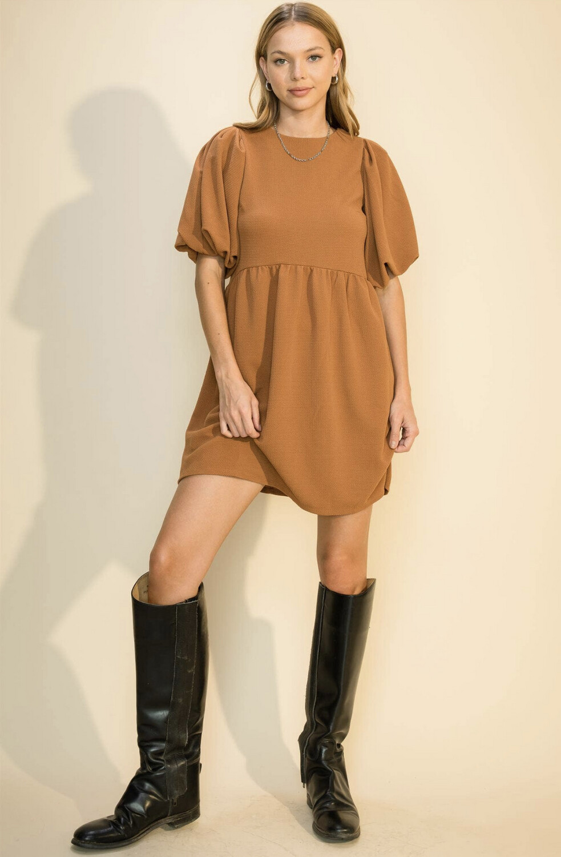 Double Knit Puff Dress