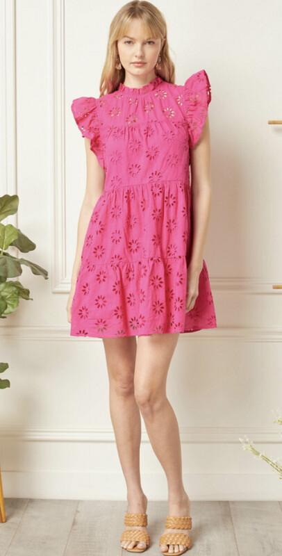 Pink Eyelet Dress