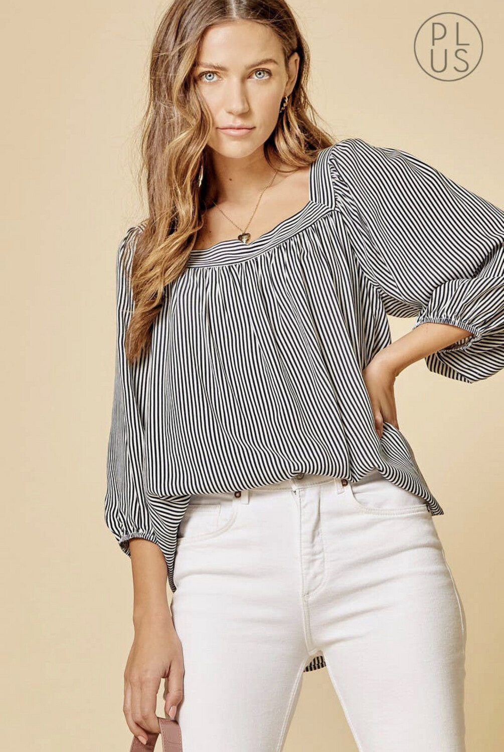 Andree Striped Blouse