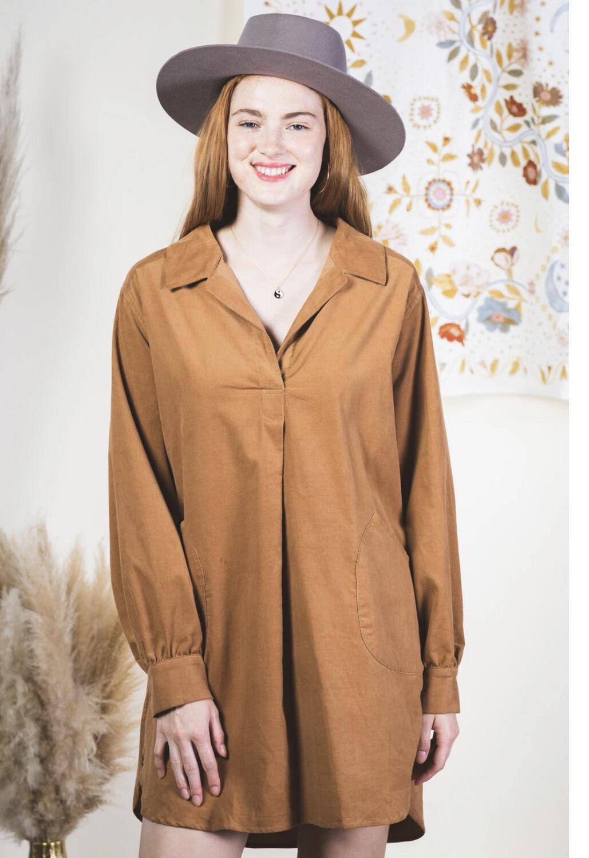 Camel Corduroy dress