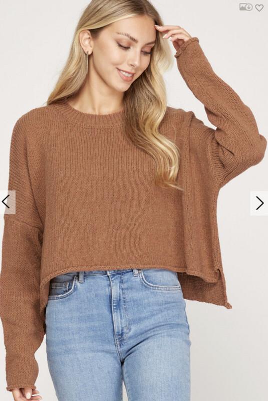 Cinnamon Sweater Crop Top