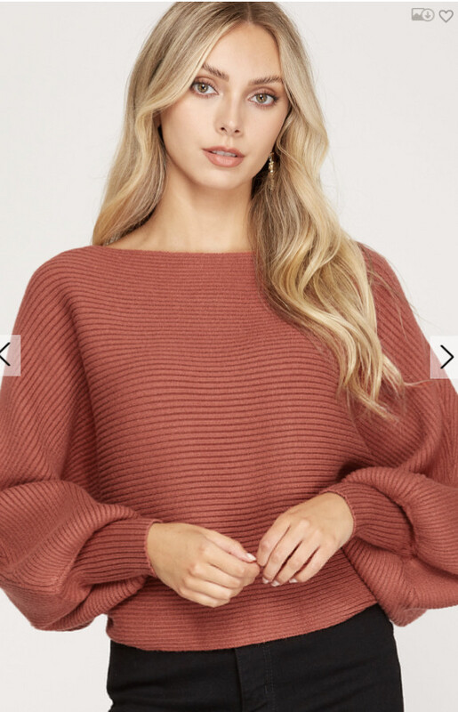 Rusted Boat Neck Sweater