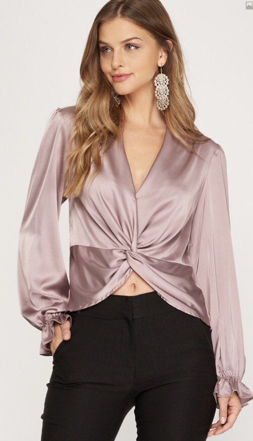 PNK Long sleeve Twisted top