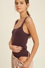 Plum Sleeveless Bodysuit