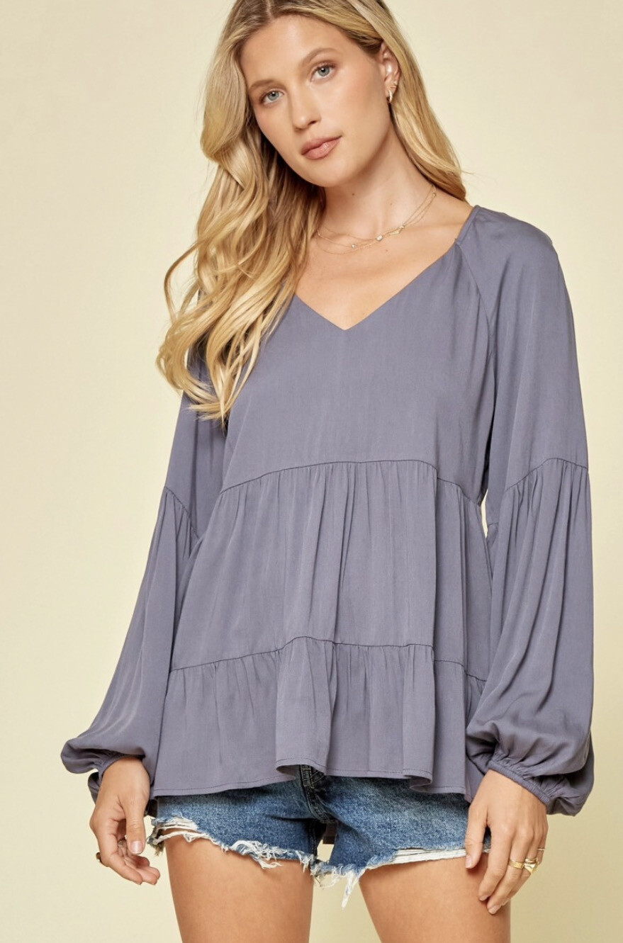 Andree Charcoal Blouse