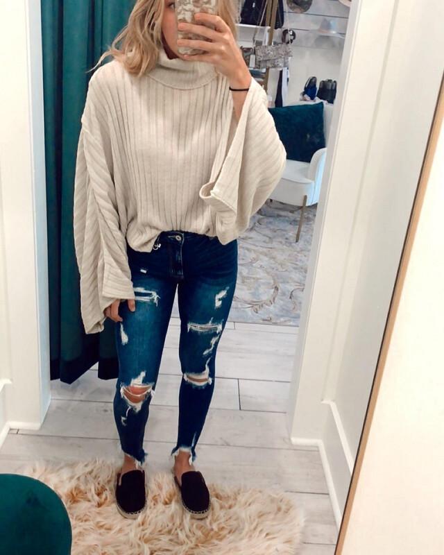 Beige Crop Sweater