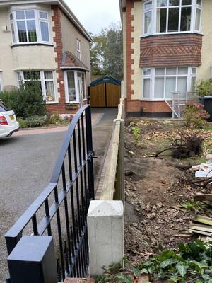 End Gate Concrete Post