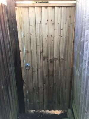 Close Board Gate Framed ledged And Braced 3ft X 6ft