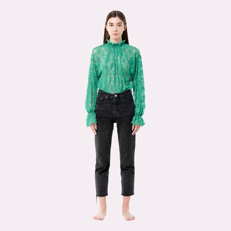 green flower blouse PRE-ORDER
