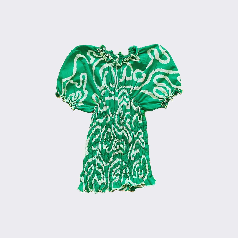 gum t-shirt green worms
