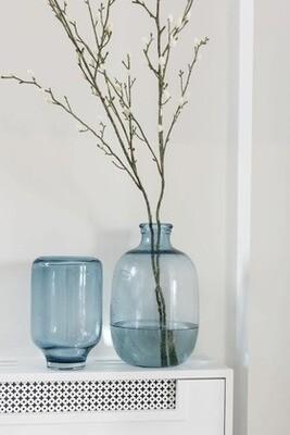 Vase verre bleu clair