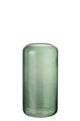 Vase cylindre verre vert
