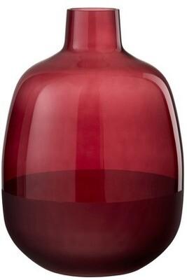 Vase verre rouge foncé