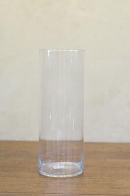 Vase droit en verre