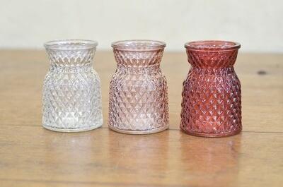 Vase verre texturé couleurs multiples taille S
