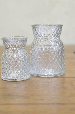Vase verre texturé couleurs multiples taille M