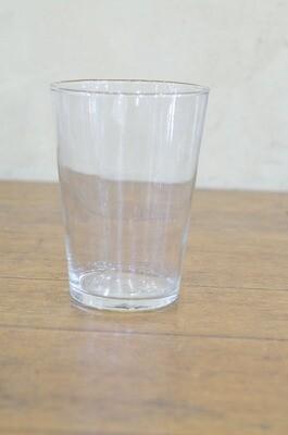 Vase verre conique