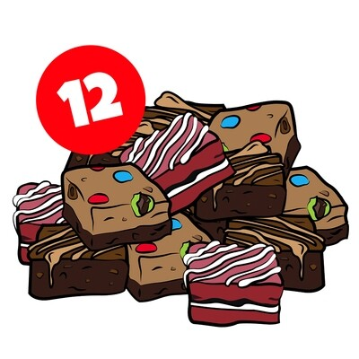 12 assorted brownies