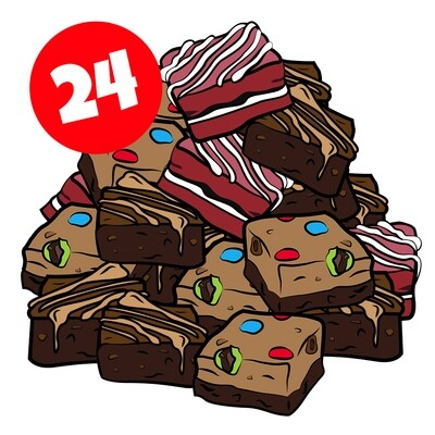24 assorted brownies