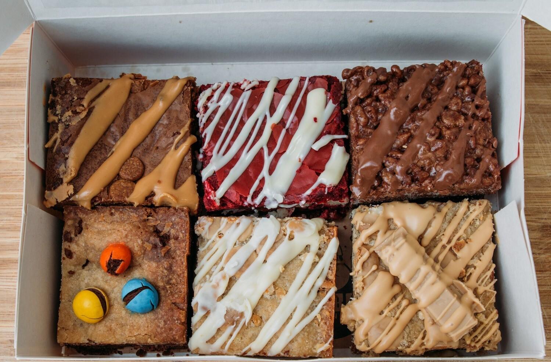 6  assorted brownies