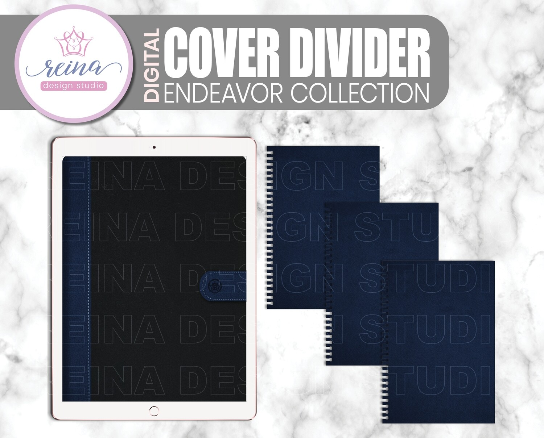 Interchangeable Digital Planner Cover and Divider | Endeavor, Navy Black