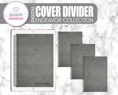 Interchangeable Digital Planner Cover and Dividers | Endeavor, Gray