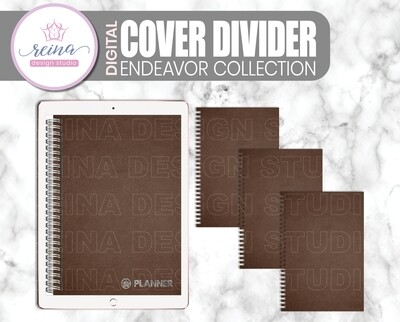 Interchangeable Digital Planner Cover and Divider | Endeavor, Brown