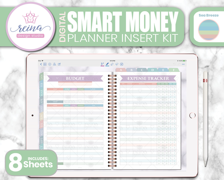Smart Money Digital Planner Insert Kit   Sea Breeze