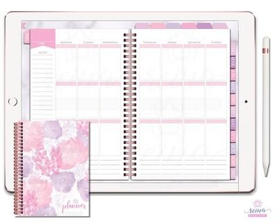 Undated Deluxe Digital Planner | Vertical, Rose Gold, Rose Quartz