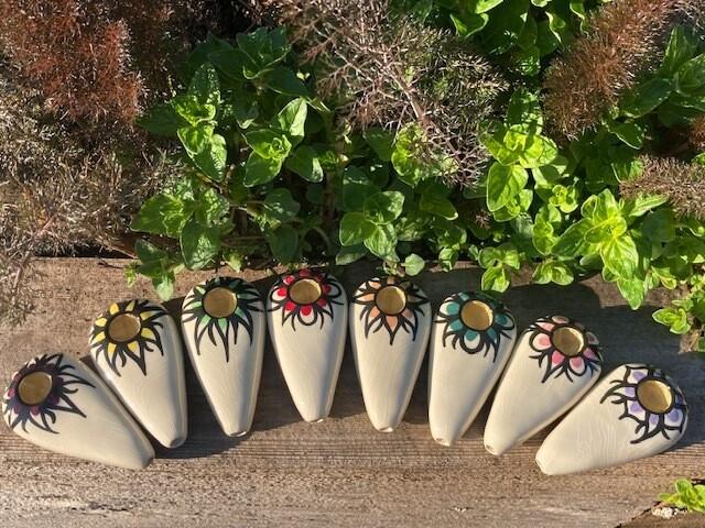 Ancient Creations Ceramics Lotus Mandala Hand Pipe