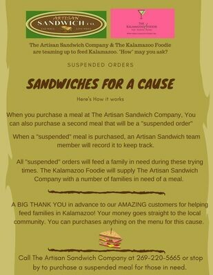 Sandwiches for a cause