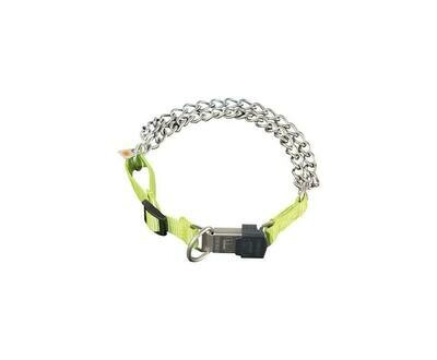 Sprenger Twin Row Chain Collar with Yellow Nylon - Discontinued
