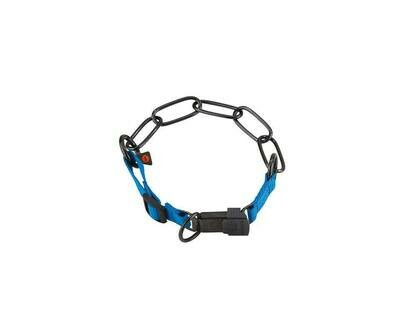 Sprenger Black Chain Collar with Blue Nylon - Discontinued