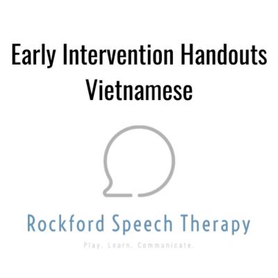 Early Intervention Language Strategies- Vietnamese