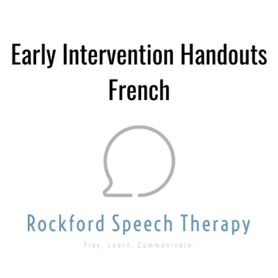 Early Intervention Handouts- French