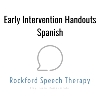 Early Intervention Handouts-Spanish
